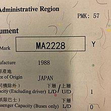 Car Plate Number(車牌)-MA2228