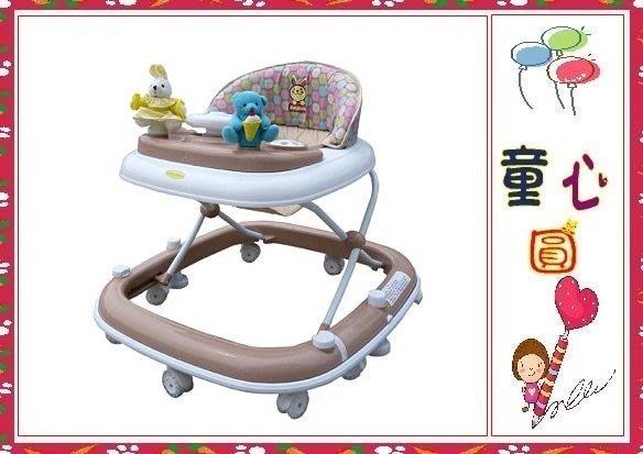 MONARCH-BabyBabe豪華靜音避震學步車(卡其色/藍色)~玩偶方向盤◎童心玩具1館◎