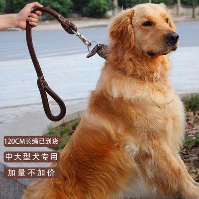 牽引繩中型大型犬猛犬專用狗狗牽引繩寵物狗繩狗鏈子金毛拉布拉多犬用品
