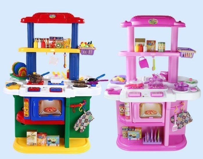 家家酒玩具-超大豪華組享樂雙面大廚房 -可開門有儲物架-雙人遊戲組~◎童心玩具1館◎