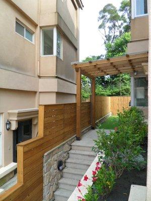 【園匠工坊】圍牆 圍籬  採光罩 南方松 玻璃採光罩 雨遮 遮雨棚 免費設計估價