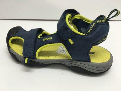 Teva 中童涼鞋 兒童涼鞋 保護腳趾頭設計 耐水性 止滑耐磨 黏貼帶設計 尺寸:17cm,18cm.19cm
