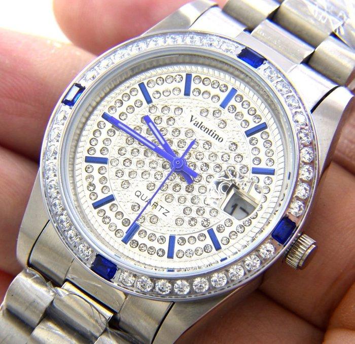 Emilio Valentino(真品)手錶.....來自義大利的品牌...珠寶純手工爪鑲嵌水晶鑽... (滿天星)