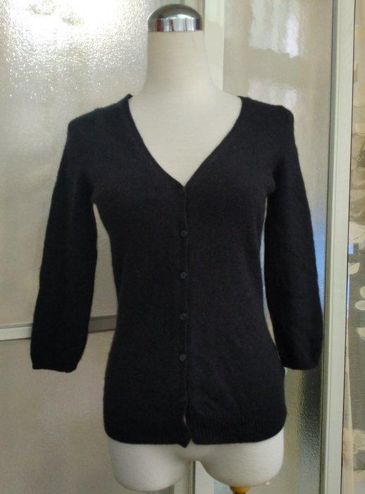 日本品牌 INED 100% CASHMERE喀什米爾 羊絨 開襟外套