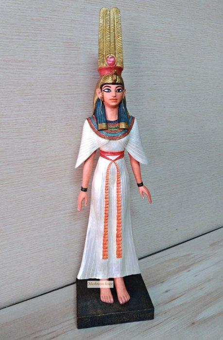 點點蘑菇屋 歐洲進口埃及尼菲塔莉王后擺飾 皇后 埃及豔后 古埃及文 古文圖騰飾品 藝術品 現貨 免運費
