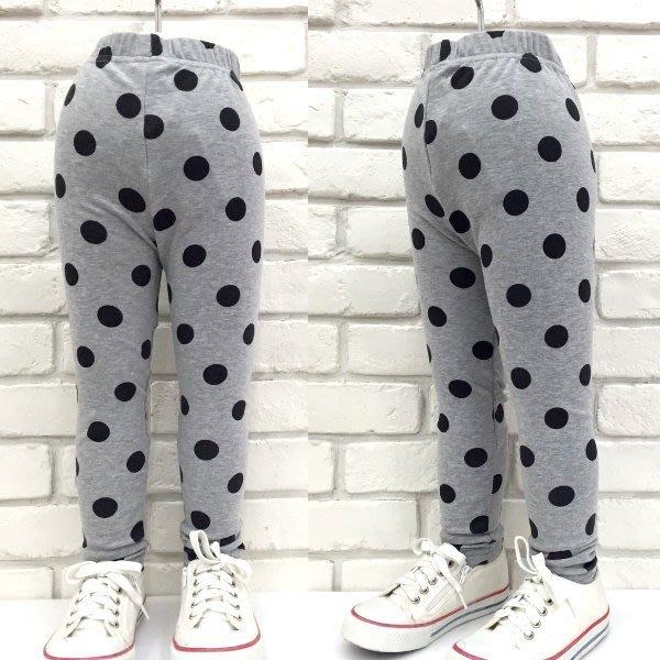【班比納精品童裝】彈力滿版點點內搭褲-米白/灰  兩色可選