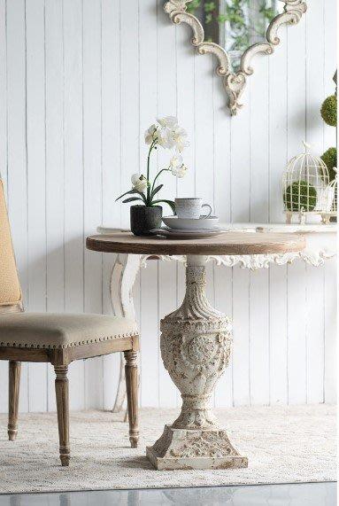 法式餐桌藝術仿古做舊優雅咖啡桌