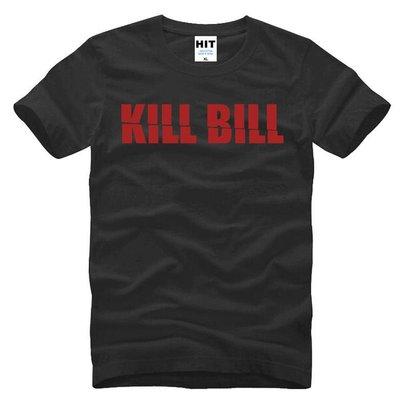 2018新款男式短袖T恤 Kill Bill 殺死比爾 字母 創意 歐碼男士純