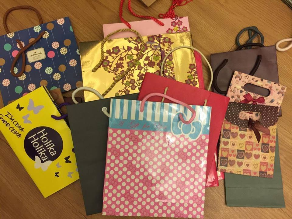 各式各樣 中小型尺寸 提袋 紙袋 共18入 不分售