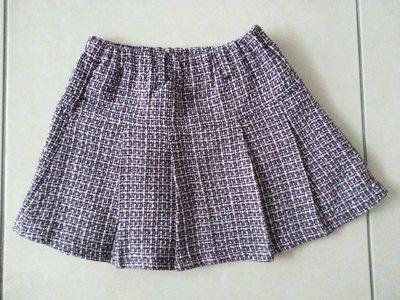 【臻迎福】女童童裝 女裝短裙 格子短裙 (裙襬有污痕,請看第二張照片)(甲)