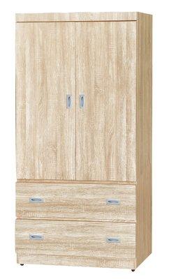 【南洋風休閒傢俱】精選時尚衣櫥 衣櫃 置物櫃 拉門櫃 造型櫃設計櫃- 梧桐木3*6尺衣櫥 CY67-936