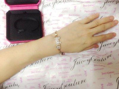 ☆°全新品☆°美國 Juicy Couture 金色JUICY英文水鑽細手環
