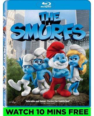 BD 全新美版【藍色小精靈】【The Smurfs】Blu-ray 藍光