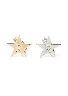 現貨 梨花 Maison de reefur LOGO星星耳扣 無耳洞可 STAR EARRING 金銀雙色