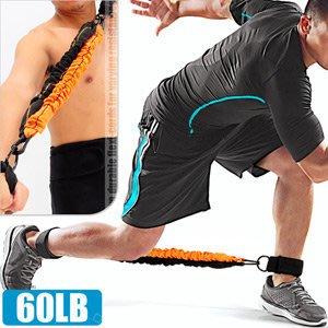 60磅LATEX乳膠綁腿彈力繩腳踝彈力帶美腿機拉力繩拉力帶拉力器抗力繩擴胸器臂力器健身器材C109-1555【推薦+】