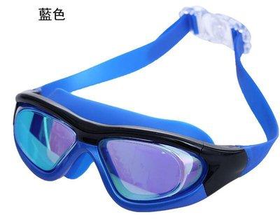 全新Leacco 大框泳鏡 超大視野 電鍍反光 防霧泳鏡 不勒眼眶 男女游泳蛙鏡 近視可k38