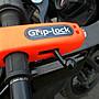 紐西蘭製造 右把鎖 GripLock (橘色版本) 小偷想破解需採站姿, 易引起路人注意
