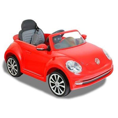 【小不點童樂會】福斯Beetle高端版搖控金龜車/電動車/紅色/可遙控/兒童電動車(可遙控控制速度版)