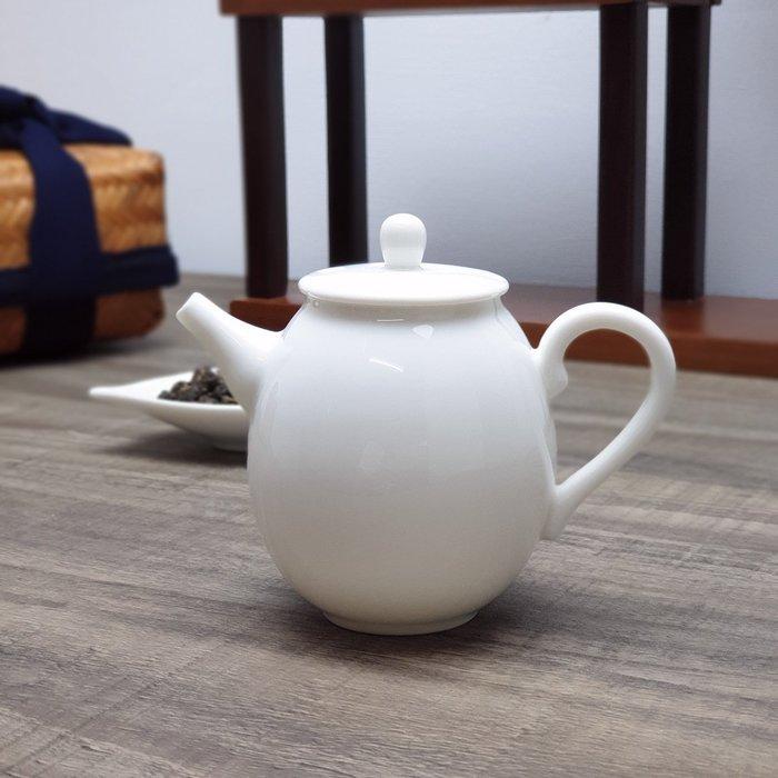 【茶嶺古道】白玉瓷橄欖壺 / 白瓷 玉瓷 德化白 茶壺 標準壺 泡茶用具 功夫茶具