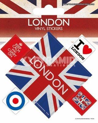 英國版貼紙 . uk Flag union jack  london