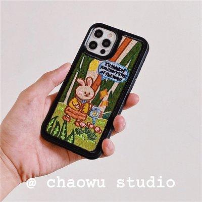 滿398免運唷iphone 12 韓國品牌 Wiggle Wiggle 刺繡手機殼 ��Best Offer ��
