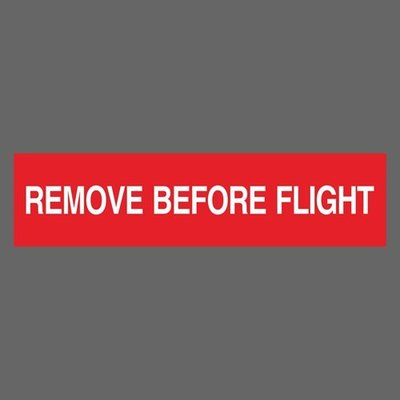 飛行前拆除 紅色 REMOVE BEFORE FLIGHT 航空公司 防水貼紙