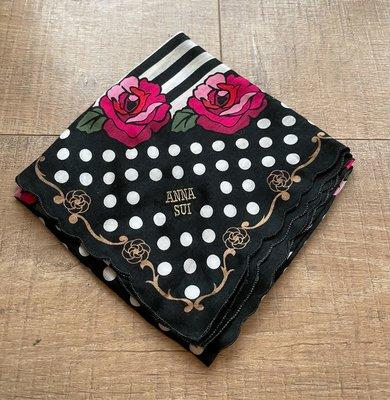 Anna Sui經典玫瑰絲巾