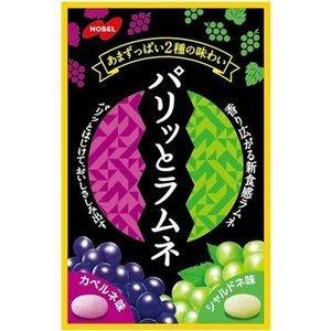 NOBEL 諾貝爾 雙葡萄口味 汽水糖 日本進口零食 JUST GIRL