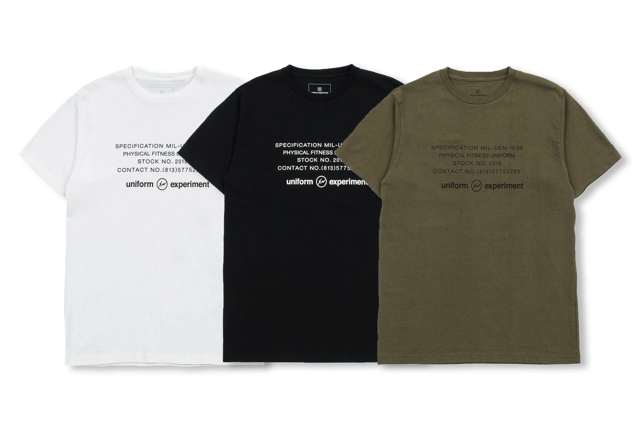 uniform experiment SS19 UEN PHYSICAL FITNESS TEE 短T 三色