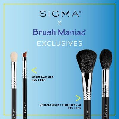 Sigma 聯名獨賣 Bright Eyes Duo Set【Brush Maniac】閃亮有型眼刷二入組