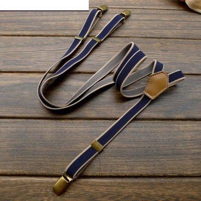 吊帶之家--英倫風細版彈性吊帶 2x1...