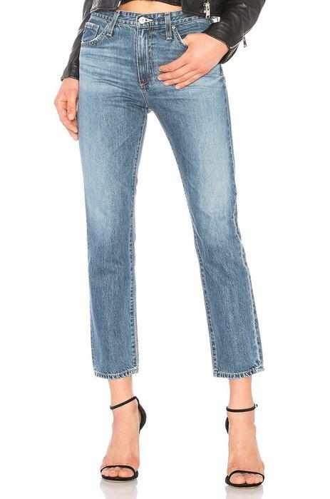 ◎美國代買◎AG ISABELLE HIGH RISE 復古藍刷色高腰刷色八分直筒牛仔褲