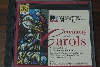 Klavier-William Hall Master Chorale Ceremony and Carols-美版