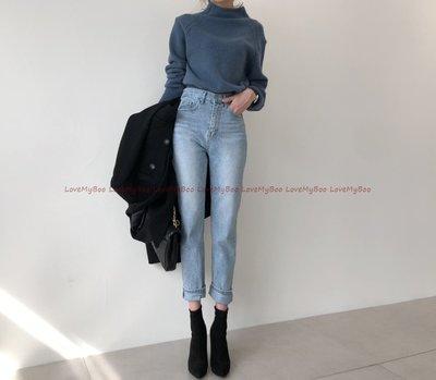 *韓國連線 正韓*chill水洗刷色 穿上就黏住的超美版型高腰修身牛仔褲.(現+預14天)