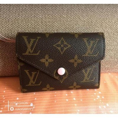 Louis Vuitton LV M62360 Victorine 粉色 三折 短夾M438 M62472
