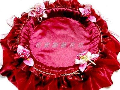 【花宴】*酒紅色圓形喜糖盤*菸盤~煙盤...
