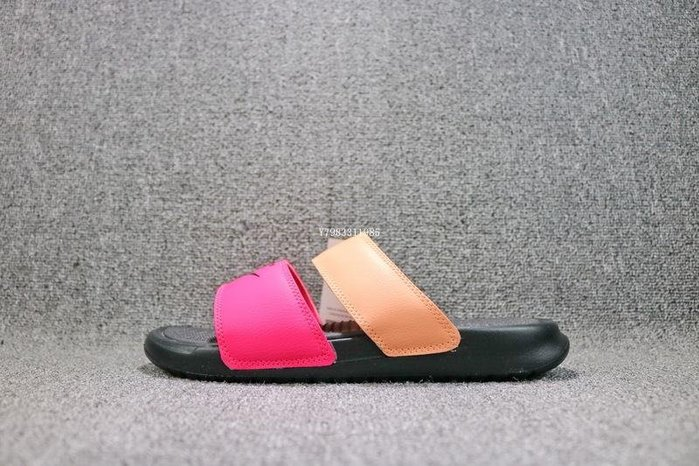 Nike Benassi Duo Ultra Slide 黑粉紅 經典 休閒涼鞋 女鞋 819717-602