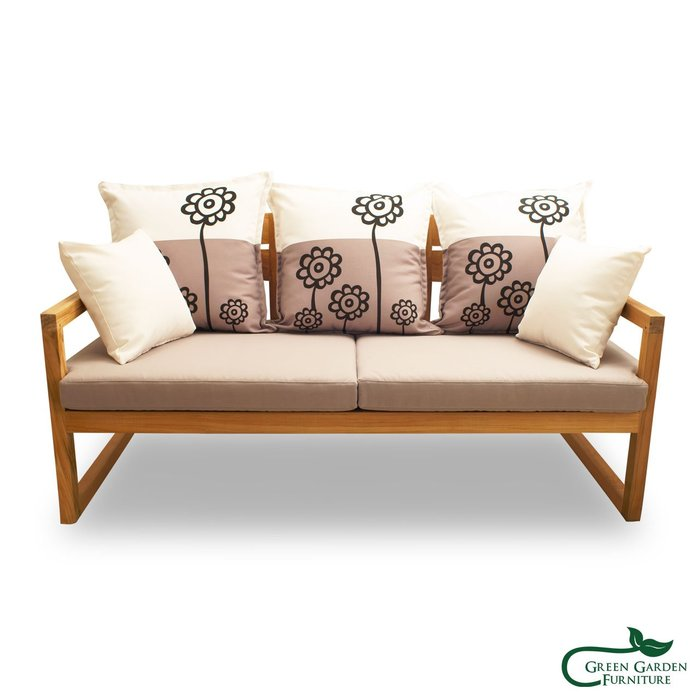 紐約 柚木三人沙發椅(原色)【大綠地家具】100%印尼柚木實木/無上漆原木款/實木沙發