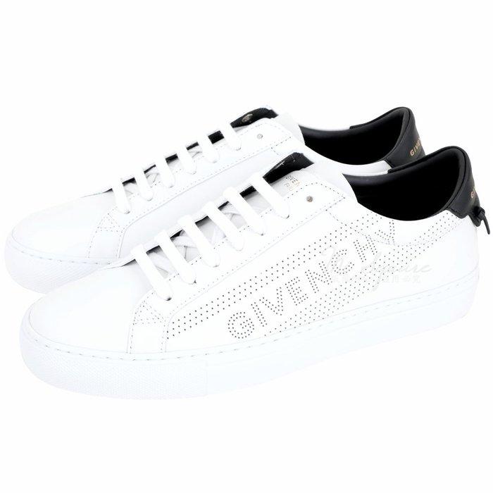 米蘭廣場 GIVENCHY 孔洞字母設計都市滑板鞋(白色) 1920478-20