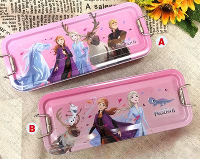 【卡漫迷】 冰雪奇緣 三層 鉛筆盒 手繪 二選一 ㊣版 鐵製 鐵筆盒文具盒 Frozen 艾莎安娜 Elsa Anna