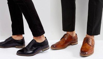 ◎美國代買◎ASOS英式雕花鞋面鞋帶設計英倫紳士風巴洛克雕花鞋帶皮鞋~大尺碼~英倫潮牌