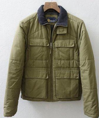 美國品牌 NAUTICA 深灰綠色 鋪棉外套 S號