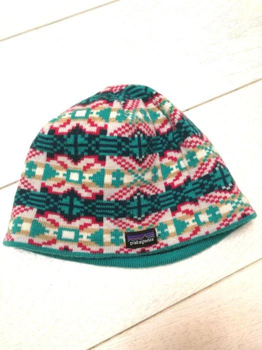 Patagonia 幼兒民族風針織毛帽 登山帽 保暖舒適