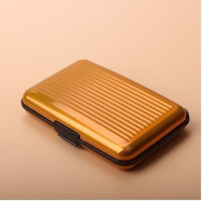 金屬防消磁防RFID/NFC信息盜刷卡包男防水錢包女錢夾名片盒
