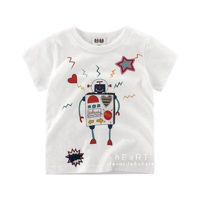 【可愛村】微笑機器人印花短袖T恤 T-shirt 童裝 短袖