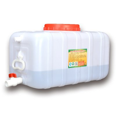 滿200起購(桃子的店)食品級臥式水箱加厚塑料大水桶儲水桶家用白色長方形塑料桶帶龍頭#熱銷款