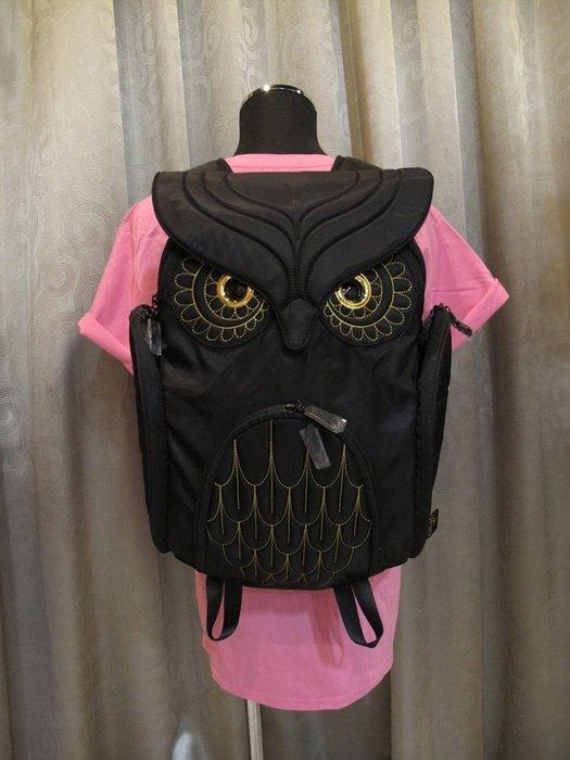 黑底金線貓頭鷹後背包(L) ,實品拍攝有店面,香港Morn Creations授權🌟最特別的禮物都在奧爾思🌟