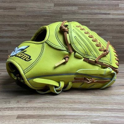 『萊特的店』日本品牌 Glom 棒壘球 投手手套 萊姆黃
