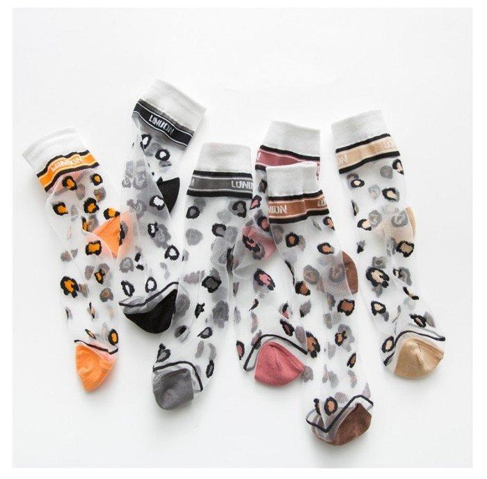*╮S.water shop╭*  豹紋 涼鞋襪短襪水晶襪玻璃絲襪  FN#00287-03共5色