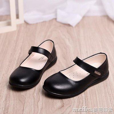 春秋兒童鞋女童黑色皮鞋公主鞋單鞋學生白色皮鞋學生演出鞋單鞋